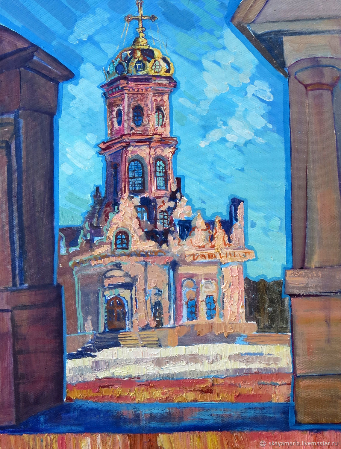 Oil painting on canvas. Dubrovitsy Church Of The Sign, Pictures, Moscow,  Фото №1
