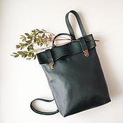 Сумки и аксессуары ручной работы. Ярмарка Мастеров - ручная работа Кожаный рюкзак Deep Forest. Handmade.