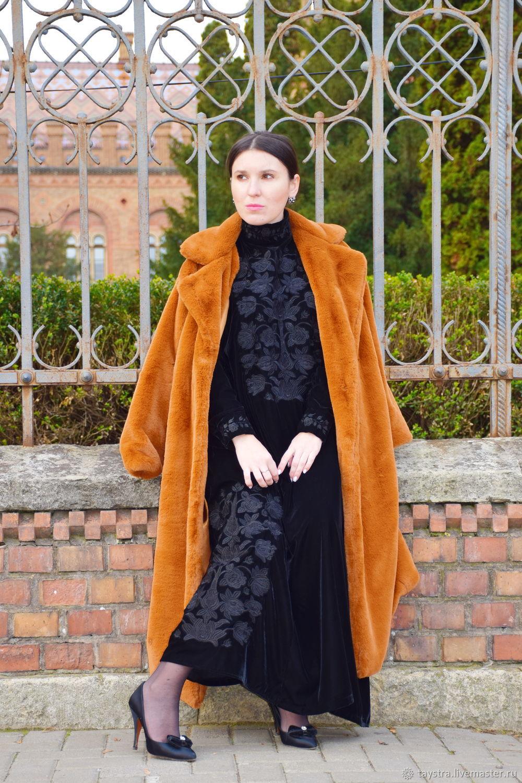 Velvet Dress Embroidered, Black Dress, Dresses, Chernovtsy,  Фото №1