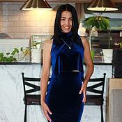 Одежда ручной работы. Ярмарка Мастеров - ручная работа Костюм из бархата, костюм женский бархатный. Handmade.