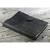 Канцелярские товары handmade. Livemaster - original item A4 leather folder with files on the rings. Handmade.