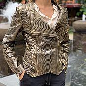 Одежда handmade. Livemaster - original item Medina Python leather jacket. Handmade.