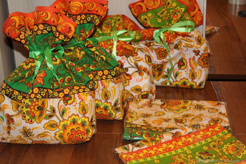 Мешочки для подарков ''Хохлома'', Мешочки для подарков, Калуга,  Фото №1