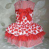 """Одежда для питомцев ручной работы. Ярмарка Мастеров - ручная работа Платье для собак"""" Красное яблоко"""". Handmade."""