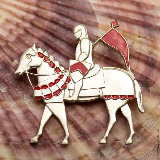 """Броши ручной работы. Ярмарка Мастеров - ручная работа. Купить Серебряная брошь-подвеска """"Рыцарь на лошади"""". Handmade. Рыцарь, конь"""