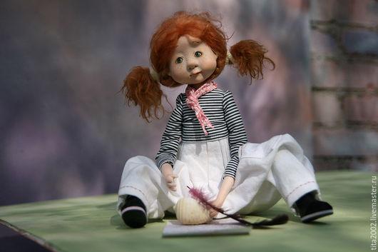 Коллекционные куклы ручной работы. Ярмарка Мастеров - ручная работа. Купить Письмо морю. Handmade. Бежевый, Будуарная кукла, хлопок