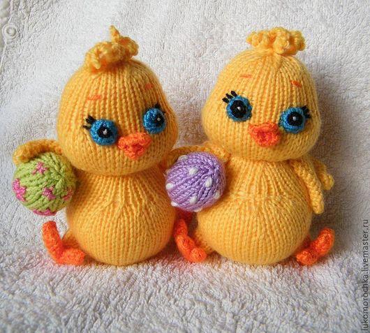 Обучающие материалы ручной работы. Ярмарка Мастеров - ручная работа. Купить МК Цыплёнок с яйцом (спицы). Handmade. Желтый, цыплята