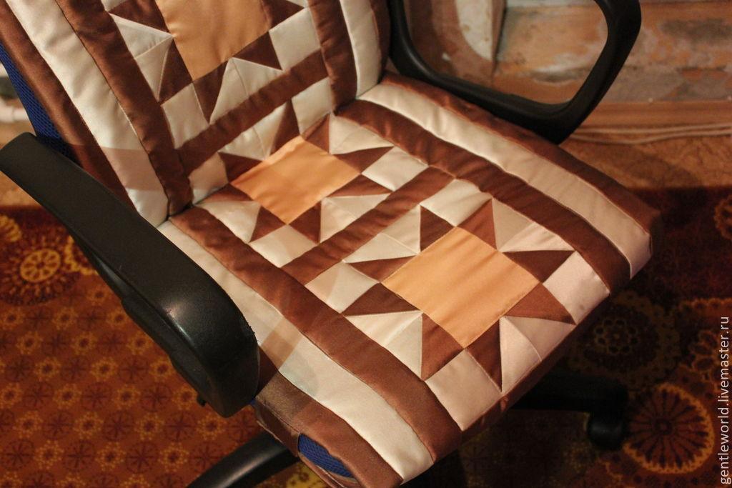 Как сшить чехол на кресло для компьютера 99