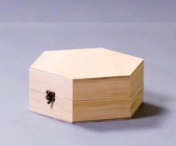 Box-box Hexagon 23 by 20 by 8 cm, pine, for jewelry, Box, Izhevsk,  Фото №1