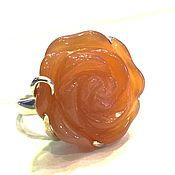"""Украшения ручной работы. Ярмарка Мастеров - ручная работа Кольцо""""Солнечная роза"""" сердолик ,серебро 925. Handmade."""