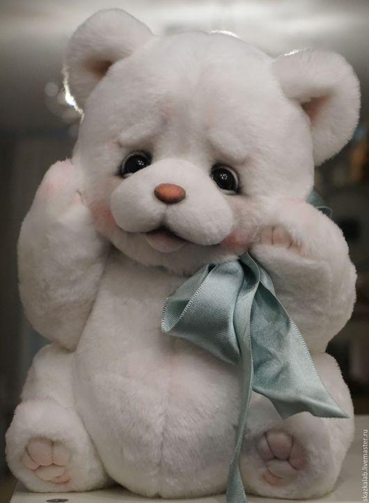 Мишки Тедди ручной работы. Ярмарка Мастеров - ручная работа. Купить Heartwarming. Handmade. Белый, пушистый, мех искусственный