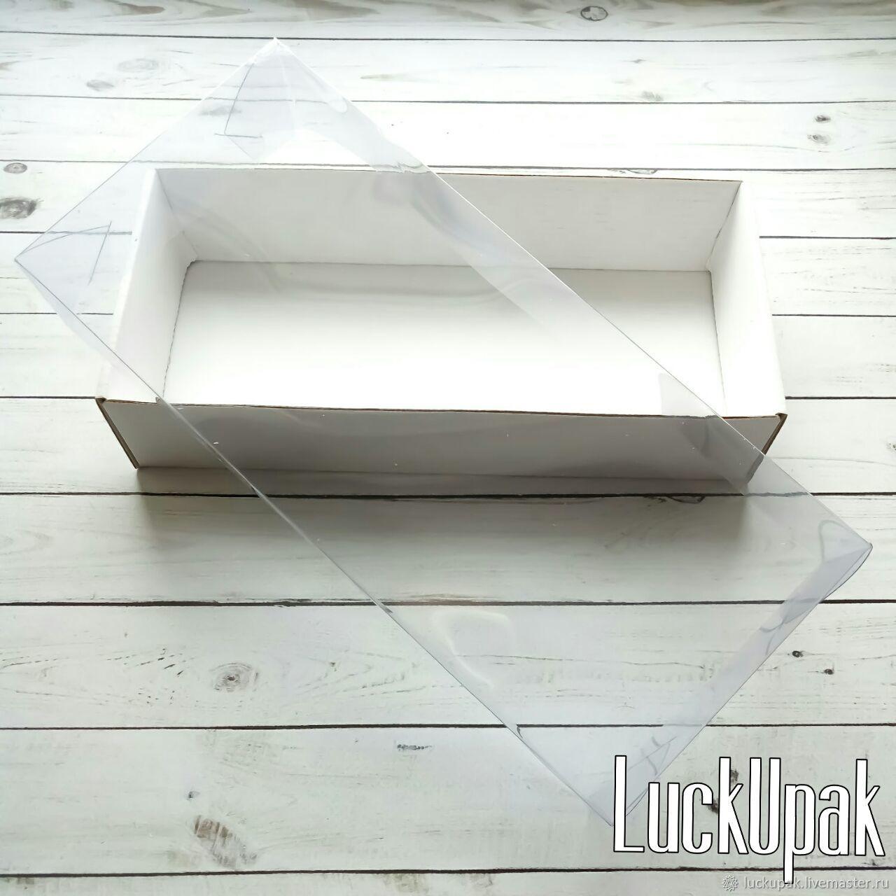 Упаковка ручной работы. Ярмарка Мастеров - ручная работа. Купить Коробка  24/11/4,5 см из МГК с прозрачной крышкой. Handmade.
