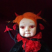 Куклы и игрушки handmade. Livemaster - original item Teddy $ Melanie-devil. Handmade.