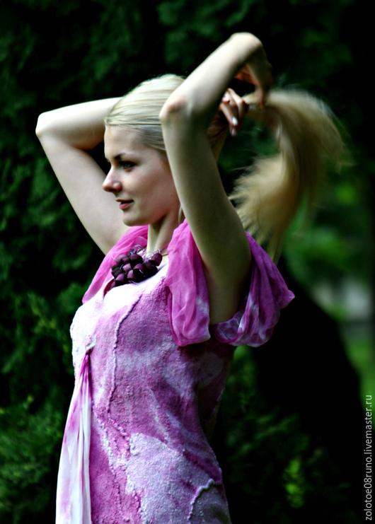 """Платья ручной работы. Ярмарка Мастеров - ручная работа. Купить Платье """"Lights orchids"""".. Handmade. Сиреневый, красивое платье, шерсть"""
