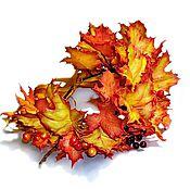 """Украшения ручной работы. Ярмарка Мастеров - ручная работа Венок """"Осень-подружка"""". Handmade."""