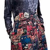 handmade. Livemaster - original item Dress warm suede Urban legends red or black. Handmade.