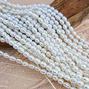Материалы для творчества handmade. Livemaster - original item 10 PCs. Natural pearl 3 mm (diameter) white A (3646). Handmade.