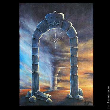 """Картины и панно ручной работы. Ярмарка Мастеров - ручная работа """"Двери, которых нет 131: Врата бури"""" - коллекционная картина. Handmade."""