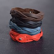 Украшения handmade. Livemaster - original item Set of four leather bracelets in any desired colors. Handmade.