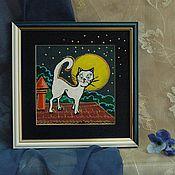 Картины и панно ручной работы. Ярмарка Мастеров - ручная работа Кошка которая гуляет сама по себе...Авторская работа.. Handmade.