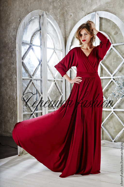 """Платья ручной работы. Ярмарка Мастеров - ручная работа. Купить Платье """"Джулия"""" винного цвета. Handmade. Бордовый, платье в пол"""