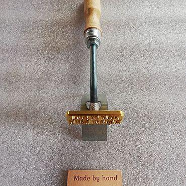 Дизайн и реклама ручной работы. Ярмарка Мастеров - ручная работа Клише для тиснения (рекламно-брендовое). Handmade.