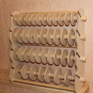 Материалы для творчества ручной работы. Ярмарка Мастеров - ручная работа Подставка на 39 катушки.. Handmade.