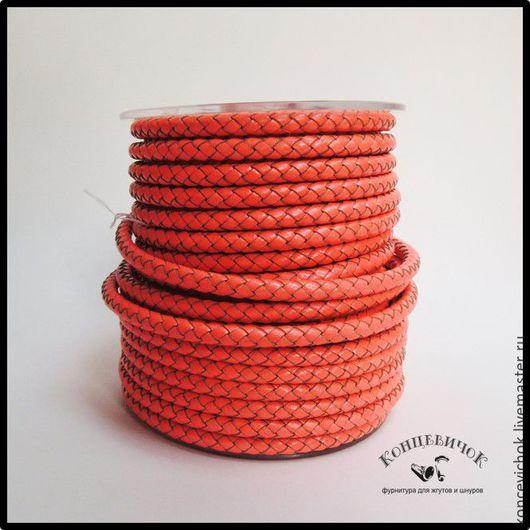 Для украшений ручной работы. Ярмарка Мастеров - ручная работа. Купить Маркерный оранжевый плетеный шнур 5мм Индия. Handmade.