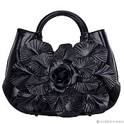 Винтаж handmade. Livemaster - original item Elegant Italian bag with flower from the famous brand! Quality. Handmade.