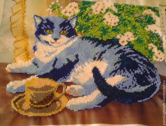 Животные ручной работы. Ярмарка Мастеров - ручная работа. Купить Домашний кот. Handmade. Тёмно-синий, домашний уют