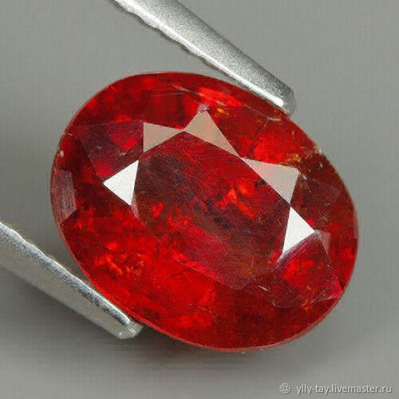 Spessartine garnet 3.79 carat, Cabochons, Pyatigorsk,  Фото №1