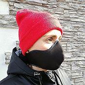 Аксессуары handmade. Livemaster - original item Protective mask: Protective mask black and white unisex. Handmade.