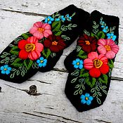 Аксессуары handmade. Livemaster - original item Mittens with embroidery(Assiya).. Handmade.