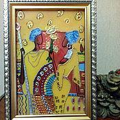 Подарки к праздникам handmade. Livemaster - original item Stained glass painting gift African Saga. Handmade.