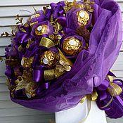 Цветы и флористика ручной работы. Ярмарка Мастеров - ручная работа Букет из конфет Ночная орхидея. Handmade.