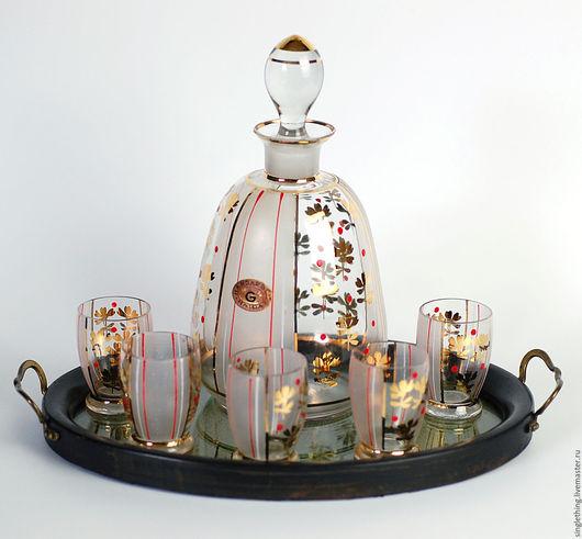 Винтажная посуда. Ярмарка Мастеров - ручная работа. Купить Винтажный графин из богемского стекла для настоечек и наливочек. Handmade. Винтаж, стекло