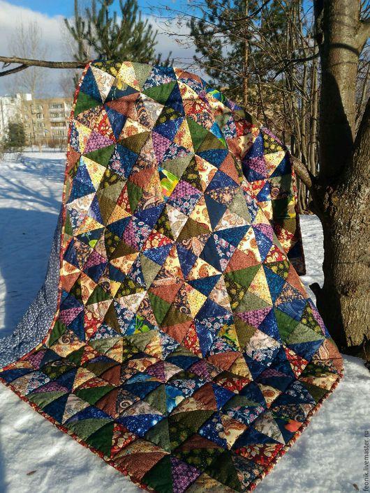 """Текстиль, ковры ручной работы. Ярмарка Мастеров - ручная работа. Купить Русское лоскутное одеяло """"Тысяча и одна ночь"""". Handmade."""