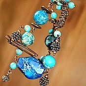 Украшения ручной работы. Ярмарка Мастеров - ручная работа Шарм-браслет из варисцита. Handmade.
