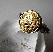 """Кольца ручной работы. Ярмарка Мастеров - ручная работа Мужское кольцо на мизинец """"Копейка рубль бережет"""" серебро. Handmade."""