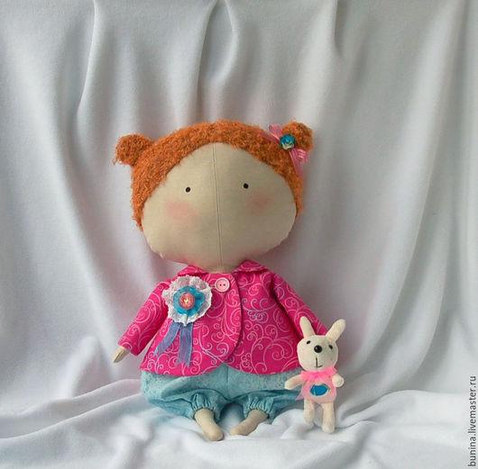 Куклы Тильды ручной работы. Ярмарка Мастеров - ручная работа. Купить Sweetheart Doll и ее кролик. Handmade. Фуксия