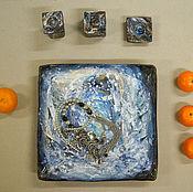 Посуда ручной работы. Ярмарка Мастеров - ручная работа Палитра зимы. Handmade.
