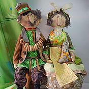 Куклы и игрушки ручной работы. Ярмарка Мастеров - ручная работа иван и нюра. Handmade.