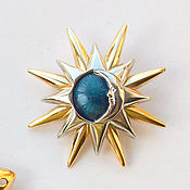 Винтаж handmade. Livemaster - original item Moon and stars brooch by Liz Claiborne. Handmade.