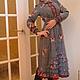 Платья ручной работы. Ярмарка Мастеров - ручная работа. Купить платье  стиль бохо..,, Аппликация,,. Handmade. Серый, комбинированное платье
