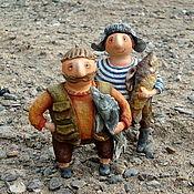 Куклы и игрушки ручной работы. Ярмарка Мастеров - ручная работа Рыбаки. Handmade.