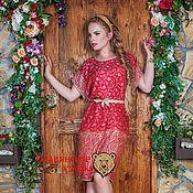 Одежда ручной работы. Ярмарка Мастеров - ручная работа Платье-туника красное. Handmade.