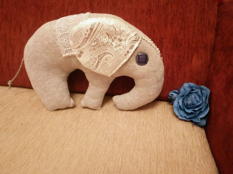 Текстильный слон Сана, Мягкие игрушки, Санкт-Петербург,  Фото №1