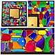 """Зеркала ручной работы. Зеркало """"Абстракт"""". Irina Selyutina. Ярмарка Мастеров. Мозаика, мозаичный, контуры акриловые"""
