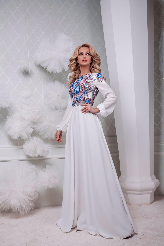 """Платье белое нарядное, платье длинное в пол """" Аромат лета"""", Платья, Санкт-Петербург,  Фото №1"""