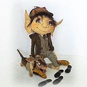 Куклы и игрушки ручной работы. Ярмарка Мастеров - ручная работа Огюст и таксик Эклер. Коллекционная кукла. Handmade.